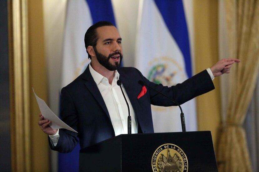 """Nayib Bukele, presidente de El Salvador fue entrevistado por el boricua Residente en un """"live"""" en Instagram. (EFE/Rodrigo Sura)"""