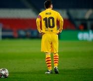 Lionel Messi se despidió emotivamente del Barcelona el domingo.