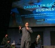 William Miranda Torres, alcalde de Caguas, durante la presentación de la iniciativa que realiza el municipio con Google My Business.