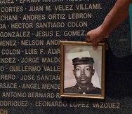 Fotografía de Leonardo López, quien fallecido a los 19 años luego de mes y medio en Vietnam.