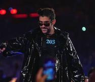 Bad Bunny durante su entrada en WrestleMania el pasado sábado en Tampa, Florida.