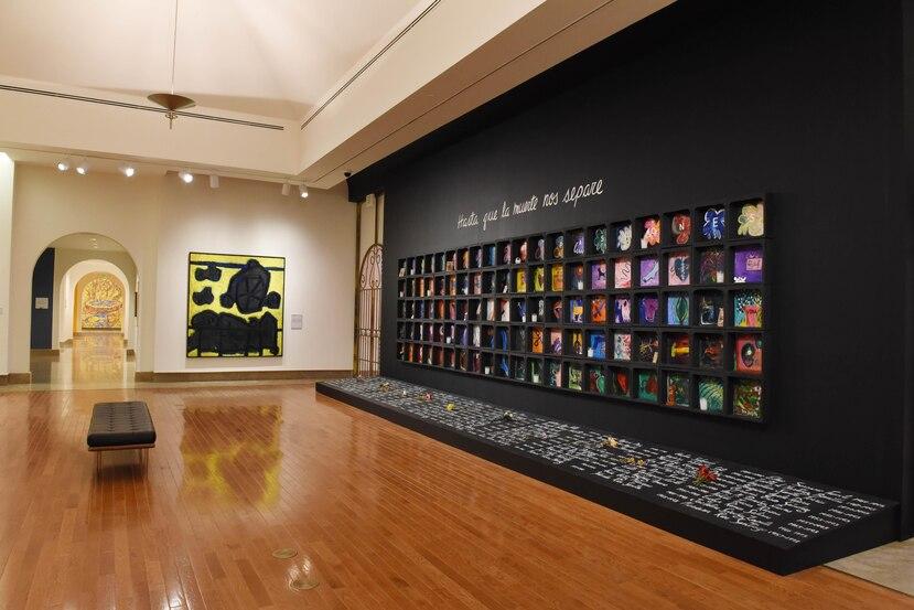 """Instalación """"Hasta que la muerte nos separe"""", de Anaida Hernández, una de las piezas que abre la nueva exhibición permanente del MAPR."""