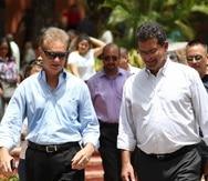 El alcalde de Bayamón, Ramón Luis Rivera, y Pedro Pierluisi. (GFR Media)