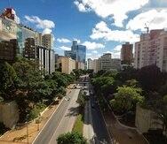 La ciuda de Sao Paulo en Brasil ha sido una de las que se ha recuperado por la baja en las emisiones de carbono. (AP)