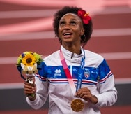 Jasmine Camacho Quinn, medallista de oro.
