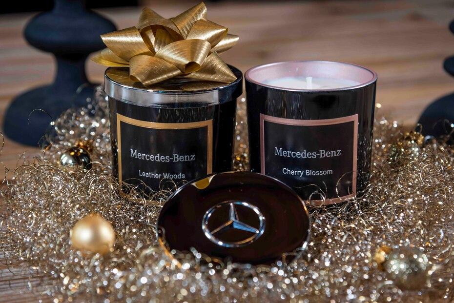 Velas perfumadas de Mercedes-Benz. (Suministrada)