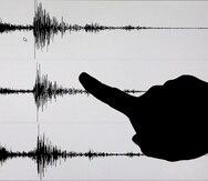 Datos de un sismógrafo tras un terremoto.