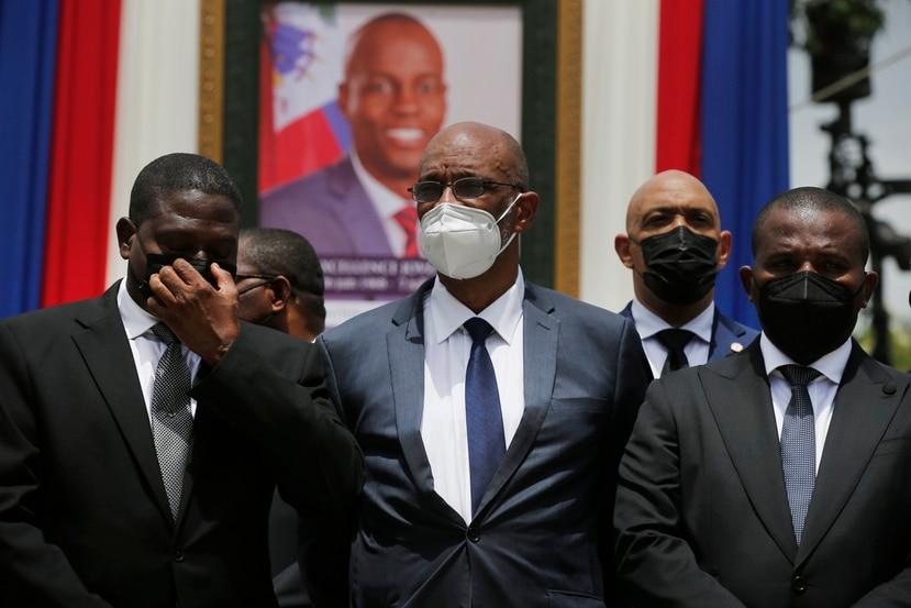 Al centro el primer ministro de Haití, Ariel Henry.