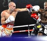Pedraza golpea con una izquierda al rostro de LesPierre durante su último combate.