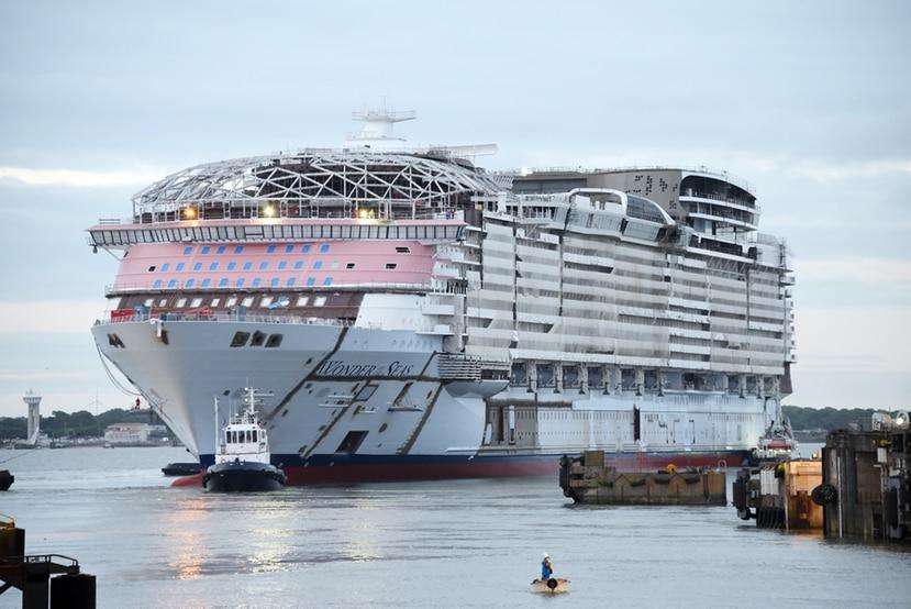 Cuando estrene en el 2022, el barco Wonder of the Seas, de Royal Caribbean, será el más grande del mundo.