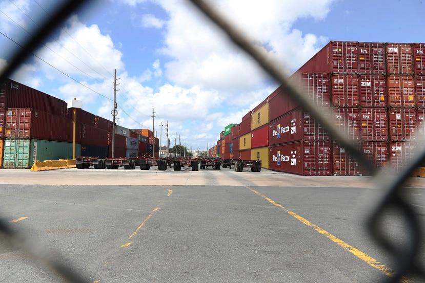 El paro de camioneros conicindió con la llegada de una barcaza de 400 vagones que arribó desde Filadelfia.