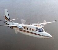 Foto de un avión Aero Commander 690C de Rockwell International, similar al modelo 690B que se estrelló.