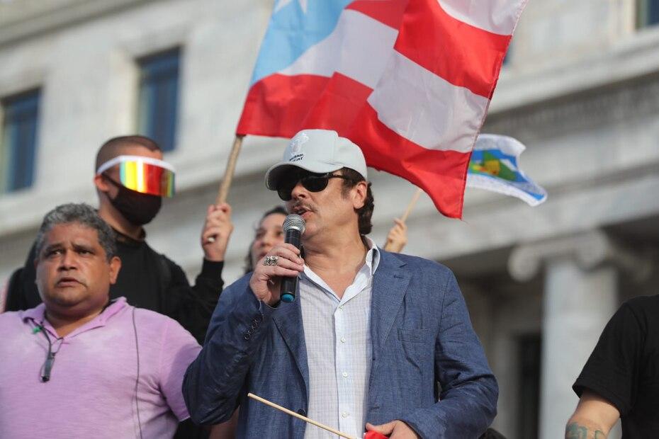 Benicio del Toro se dirigió al público presente para ofrecer un mensaje de apoyo.