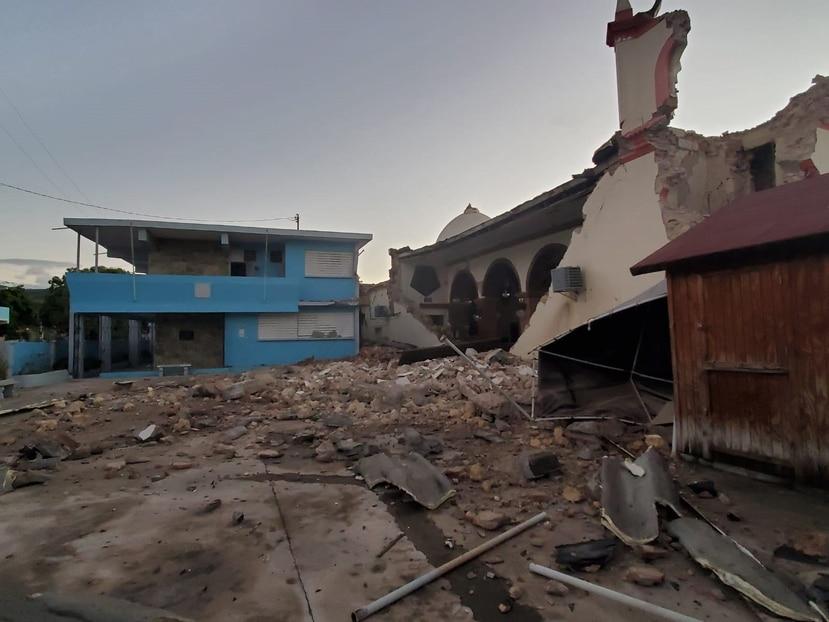 El sismo derrumbó la iglesia Inmaculada Concepción en Guayanilla. (Gerardo Alvarado/GFR Media)