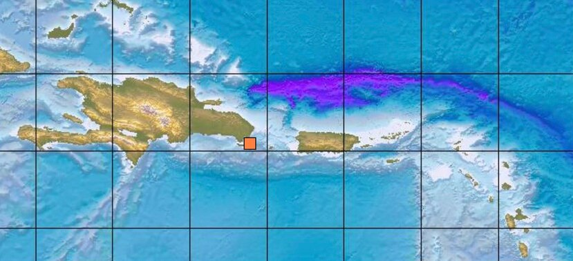 El temblor ocurrió a 47 kilómetros al sureste de las zonas dominicanas de Higüey y a 57 kilómetros al oeste de Isla de Mona, Puerto Rico.