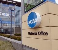 Foto del 12 de marzo del 2020 las oficinas de la NCAA en Indianápolis. El miércoles 30 de junio de 2021, la Junta de Directores de la NCAA levanta las restricciones en las compensaciones sobre el uso de su nombre e imagen para atletas.