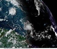 Imagen de satélite del huracán Sam mientras se aproxima a la zona del Caribe.
