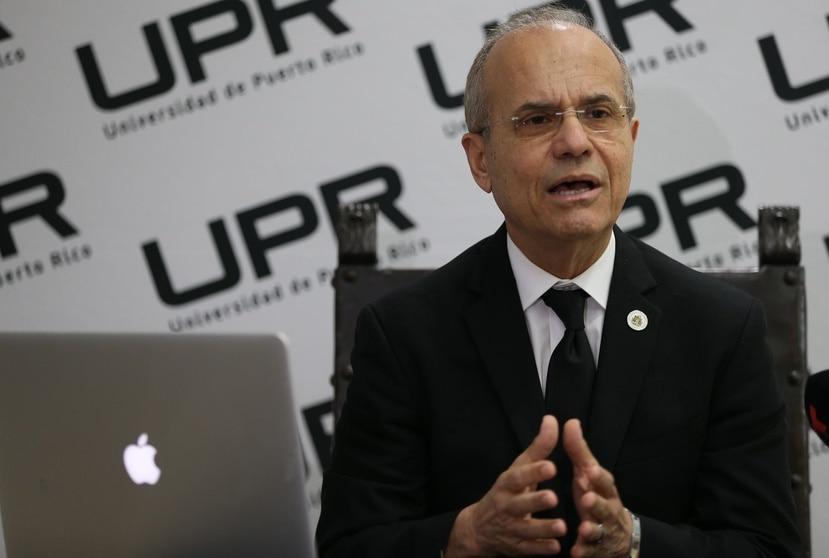 Presidente de la Universidad de Puerto Rico, Jorge Haddock.