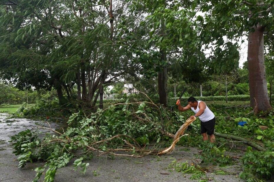 El huracán tocó tierra justo al sur de Cancún cerca de las 5:30 a.m. de hoy miércoles, 7 de octubre de 2020.