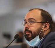 El secretario de Educación interino, Eliezer Ramos Parés,