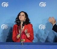 Isabel Díaz Ayuso junto al líder del Partido Popular de España, Pablo Casado.