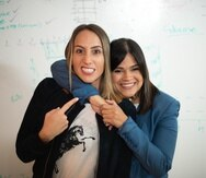Desde la izquierda, Lauren Cascio y Dolmaria Méndez, cofundadoras del startup Abartys. (Suministrada)