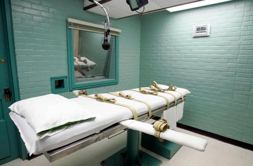 La cámara de ejecuciones en la cárcel de Huntsville, Texas, el 27 de mayo del 2008. (AP)
