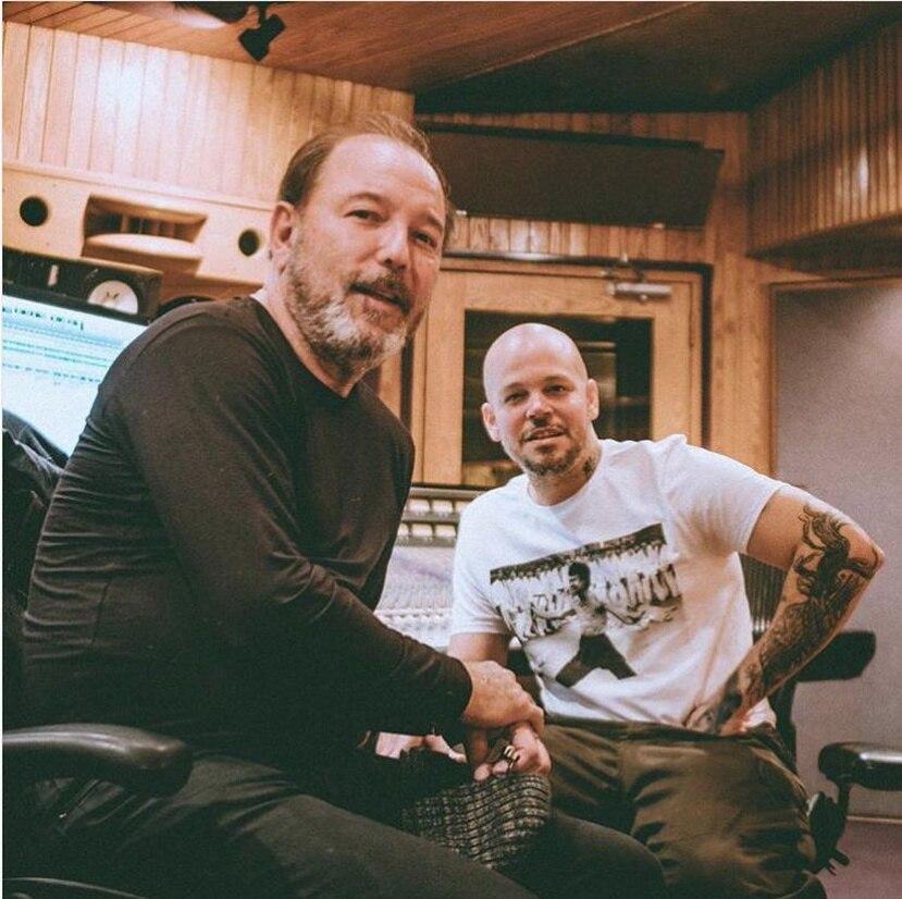 René y Rubén Blades se juntaron para crear música que será parte del nuevo dísco del boricua (Instagram Residente).