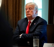 El presidente saliente, Donald Trump.