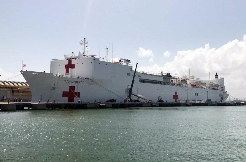 El buque hospital USNS Comfort tenía ayer 53 pacientes, según datos del gobierno. (Archivo / EFE)