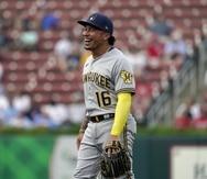 Kolten Wong, integrante de los Brewers de Milwaukee.
