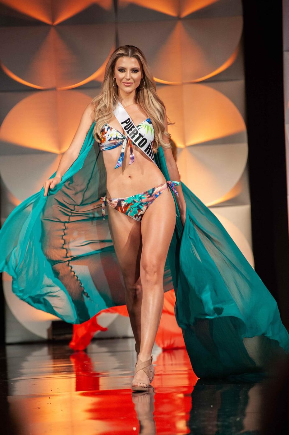 Madison Anderson brilló en bañador durante la preliminar de Miss Universe.  (HO/The Miss Universe Organization)