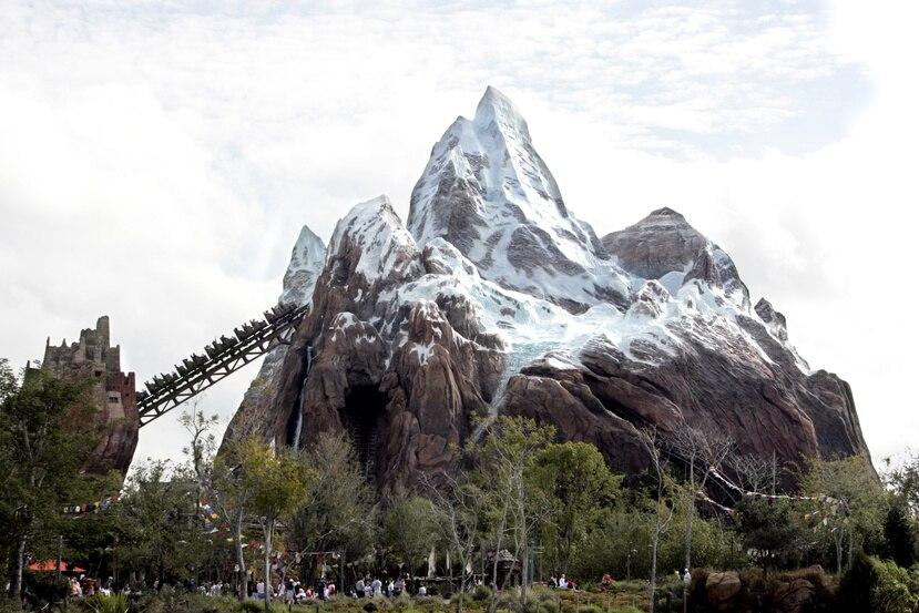 Montaña rusa Expedition Everest en el parque Animal Kingdom en Walt Disney World.  (AP Photo/John Raoux)