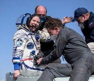 Astronautas de Estados Unidos y Rusia regresan a la Tierra desde la Estación Espacial Internacional