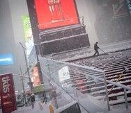 Es la segunda tormenta de nieve en una semana que afecta Nueva York.