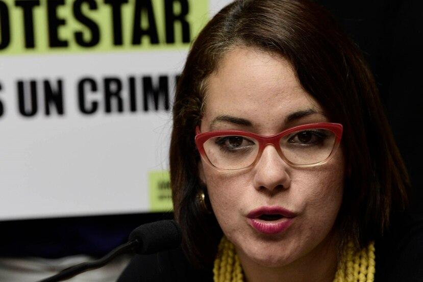 Annette Martínez Orabona, la directora de la Clínica de Derechos Humanos de la Universidad Interamericana.