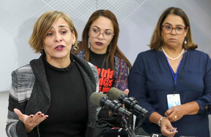 La próxima reunión del nuevo grupo que atenderá la problemática de violencia de género será el 18 de diciembre. En la foto la secretaria de la gobernación Zoé Laboy.