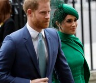 In this Monday, March 9, 2020 file photo, Britain's Harry and Meghan the Duke and Duchess of Sussex arrive to attend the annual Commonwealth Day service at Westminster Abbey in London. Prince Harry has repaid 2.4 million pounds ($3.2 million) in British taxpayers' money that was used to renovate the home intended for him and his wife Meghan before they gave up royal duties. A spokesman on Monday, Sept. 7, 2020 Harry has made a contribution to the Sovereign Grant, the public money that goes to the royal family. (AP Photo/Kirsty Wigglesworth, file)