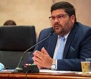 Carlos Mellado en una vista en la Legislatura.