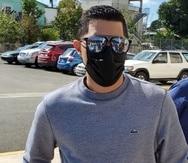 Jensen Medina Cardona a su llega al Tribunal de Fajardo.