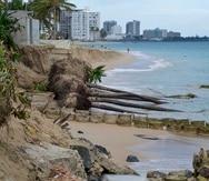 Este año, la erosión costera en varios puntos de la isla siguió agravándose debido al aumento en el nivel del mar, que responde, a su vez, al derretimiento de los polos debido  al calentamiento  del planeta.