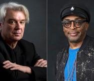 """El músico David Byrne y el director Spike Lee. La versión cinematográfica de Lee del espectáculo """"American Utopia"""" se estrenará el 10 de septiembre. (Foto AP)"""