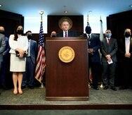 El jefe de la Fiscalía federal, Stephen Muldrow, en conferencia de prensa.