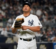 El relevista Wandy Peralta lanzó la sexta entrada por los Yankees.