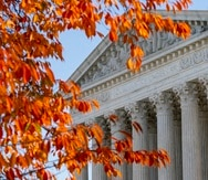 The U.S. Supreme Court is seen as arguments are heard about the Affordable Care Act Tuesday, Nov. 10, 2020, in Washington. (AP Photo/Alex Brandon)