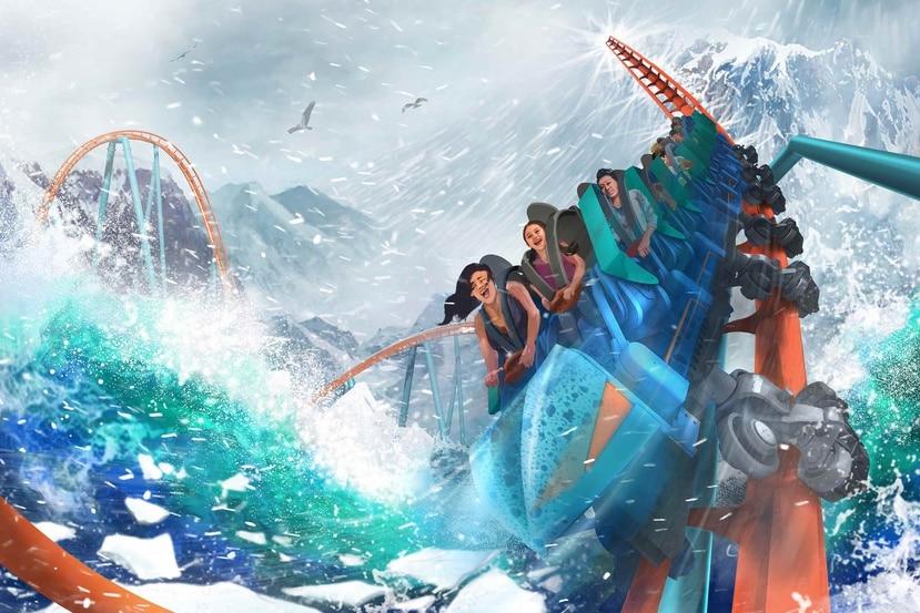 Ice Breaker será la nueva montaña rusa de Sea World. (Suministrada)