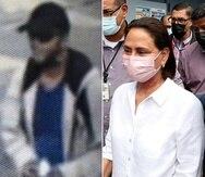 A la izquierda, una imagen del acusado de secuestrar a la legisladora municipal de Humacao Ana Esther Ponce (derecha).