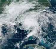 Imagen del satélite que muestra a la tormenta tropical Elsa sobre Florida en la mañana del miércoles, 7 de julio de 2021.