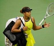 Naomi Osaka confirmó que no estará activa en el torneo en California.