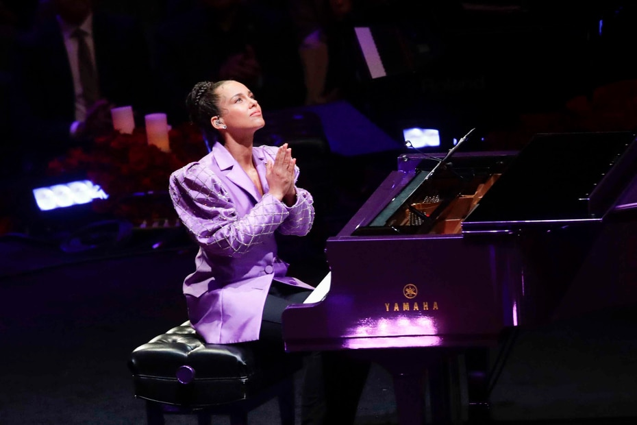 "Alicia Keys interpretó ""Moonlight Sonata"" de Beethoven. (AP)"